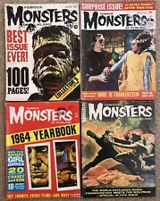 Famous Monsters Of Filmland Magazines 4 Rare Issues Including 1964 Yearbook