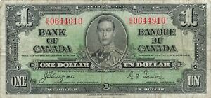 Canada 1 Dollar 1937 P-58e