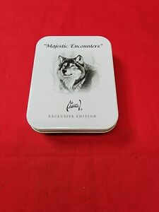 AVON Majestic Encounters Wolf Pocket Watch Al Agnew Exclusive Edition with Tin