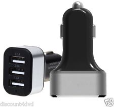 3 Puertos Universal Cargador de coche USB 5.1a 26w tres TRIPLE PARA IPHONE SONY