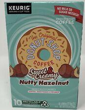 DONUT SHOP Sweet & Creamy Nutty Hazelnut 10 ct K-Cups Best By 2/2020