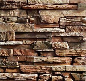 Plastic Mold Stone Wall Concrete Yeso Pared Jardín Hogar Top Decoración Baldosas