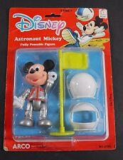"DISNEY ASTRONAUT MICKEY MOUSE 4.5"" POSEABLE FIGURE ARCO MATTEL NOC"