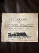 1948 Little Engines Live Steam Locomotives Model Train Catalog