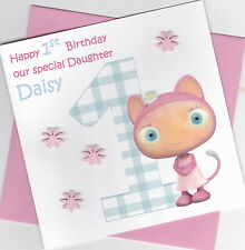 Personalised Handmade Waybuloo 1st,2nd,3rd,4th,5th Birthday Card - Daughter etc