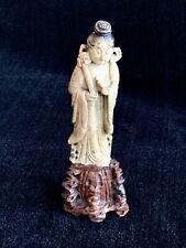 Chinese Immortal He Xian-Gu ~ Carved Soapstone Figurine