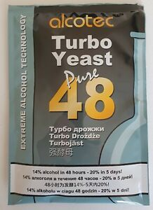 Alcotec 48 Pure Turbo Yeast - fast making of pure alcohol - and/or wine finings