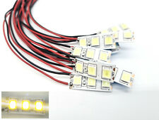 10 Stück SMD LED Hausbeleuchtung mit Kabel Beleuchtung warm-weiß Wagonlicht #A42