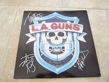 LA Guns 1988 Debut Autograph Signed LP Album Tracii Phil Steve PSA Guaranteed #2