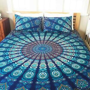 Indian Mandala Bedding Throw Bed Cover Hippie Bohemian Queen Size Bed Sheet Set