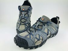 Merrell Sneaker Waterpro Maipo Mens 11 Blue Blk Gray Outdoor Hiking Water Shoe