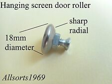 Hanging security screen door roller/wheel sharp radial roller only no bracket