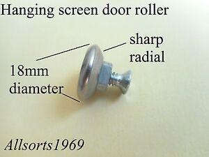 Hanging security screen door roller/wheel sharp radial roller only no bracket