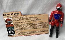 New listing Vintage 1983 G.I. Joe Cobra H.I.S.S. Driver Figure w/ File Card