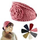 New Women Crochet Warmer Headwrap Fashion Crochet Headband Knit Flower Hairband