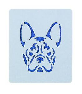 French Bulldog Crafting Drawing Face Painting Stencil 7cm x 6cm Reusable UK Shop
