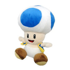 "NEW Authentic  6"" Blue Toad Stuffed Plush Little Buddy USA Nintendo Super Mario"