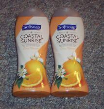 NEW Softsoap Costal Sunrise Citrus Blossom Body Wash 15oz X2 Limited Edition