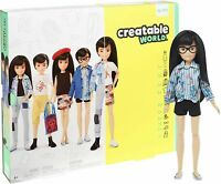 Creatable World Deluxe Character Kit Customizable Doll Black Straight Hair GGG54