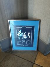 1984 L.A.Olympic Games Small Framed Poster - Peter J. Heer, Baseball