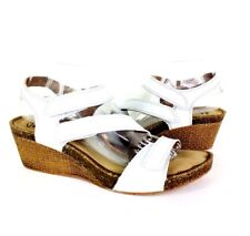 92f93bed0fb (5331) Clarks Collection Soft Cushion Womens Sandals White Leather Shoes 9.5