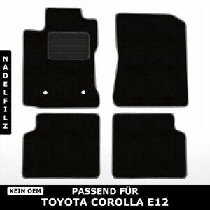 Fußmatten Passend für Toyota Corolla E12 (2001-2007) - Schwarz Nadelfilz 4tlg