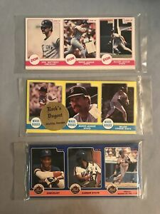 uncut sheets of baseball cards - 22 sheets 3 uncut baseball cards in packages