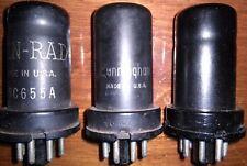 3 6AC7 Tubes Ken-Rad Cunningham Metal Pentode 62% 58% 70% Vintage