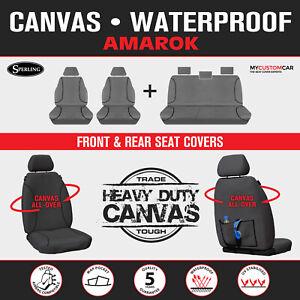 Volkswagen Amarok 2H 2011-on TRADIES Heavy Duty Grey Canvas Seat Covers