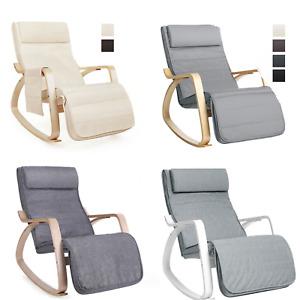SONGMICS Fauteuil à Bascule Chaise berçante Rocking Chair Chaise Relaxation