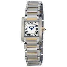 Cartier W51007Q4 tanque francés para mujeres 18kt oro de dos tonos de acero inoxidable reloj