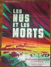 Rare Ancienne Affiche Cinéma LES NUS ET LES MORTS. Rare Cinema Movie Poster.