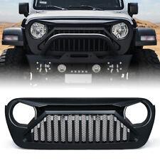 Xprite Gladiator Series Matte Black Grille for 2018-2020 Jeep Wrangler JL