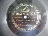 "78rpm 10"" RCA Victor St. Louis Blues March Cherokee Tex Beneke 20-2722 198-5AB"
