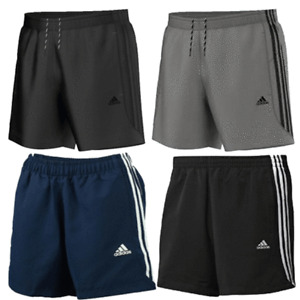 ADIDAS 3 STRIPE PERFORMANCE MENS SHORTS 4 COLOURS   S TO 2XL SIZES FREE SHIPPING