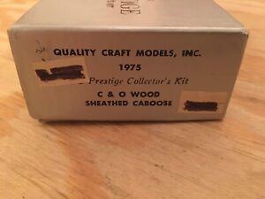 HO Quality Craft Models Chesapeake & Ohio Wood Sheathed Caboose Kit C&O