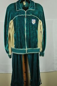 Vintage Levis Women's 1984 Olympic Green Acrylic Poly Jumpsuit M Madium