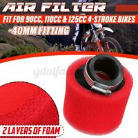 40mm PIT DIRT BIKE RACING DOUBLE FOAM AIR FILTER 90cc 110 125cc 4 STROKE PITBIKE