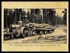 C.L. Best Logging Engine of San Leandro, California NEW Metal Sign: 65 Ton Load