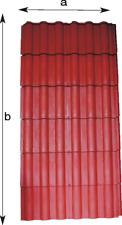 Kunststoff Dachziegel  Dachelement Kunststoff  1m brt. x 2m lg.leicht-nur 6.-Kg