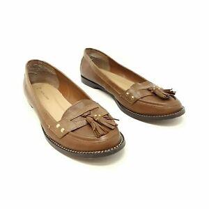 New Look Brown Ladies Flat Shoes Loafers UK 6 EU 39 Slide On