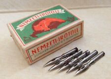Lot of 24 nibs WITH BOX FROM SCHULER HUNGARY dip ink pen vintage