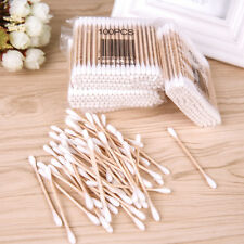 Pro Cotton Swabs Buds Wooden Sticks Approx 200 With Box Double Sided Head
