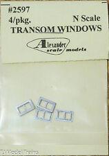 Alexander Scale Models #2597 Transom Windows (N Scale) Light Cast Metal
