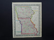 Antique Map, Mitchell, 1865, Iowa, Missouri M8#45
