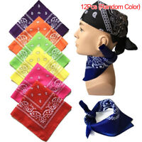 12pcs Bandana  Assorted Bandanas 22X22 Inch 100% Cotton outdoor protection US