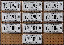 10 ILLINOIS Bright White License Plates Car Tags Arts Hobbies GENERIC BULK LOT