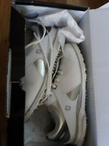 FootJoy Pro SL 98114 Spikeless Comfort Golf Shoes White Silver Womens Size 8