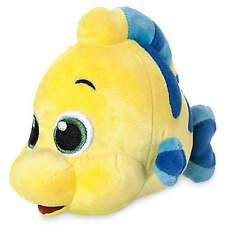 "Disney Store Animators' Collection Flounder Plush Mini Bean Bag 6-1/2"" Ariel NWT"
