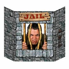 JAIL PRISONER PHOTO STAND IN CUTOUT WESTERN THEMED PROP PLACE HEAD IN HOLE